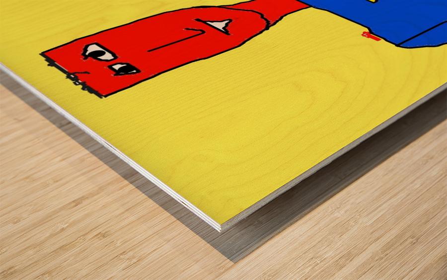 Superman Lite Wood print