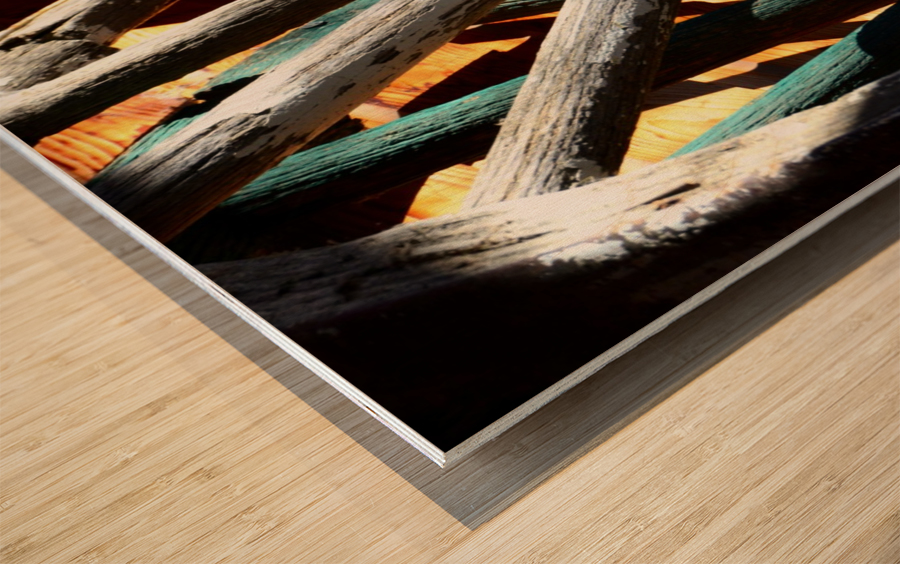 Wagon Wheels.04 Wood print