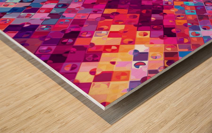 Geometric XXXXXVIII Wood print