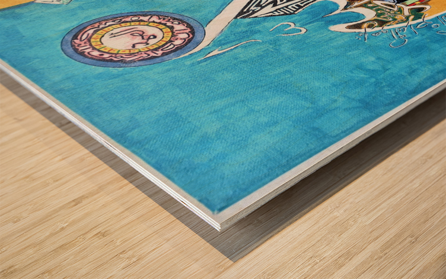Ahson_Qazi_Geometric Calligraphy artSurah Akhlas ahson_qaziShades_of_DivinityIslamic_Artacrylic markers on stretched canvass 14x14 Wood print