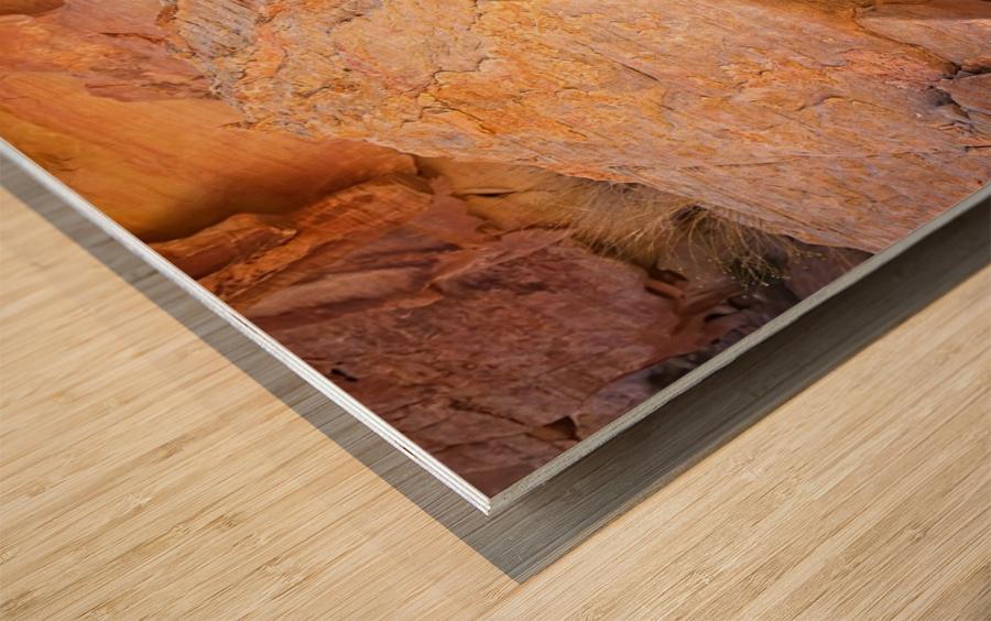 Rock Overhang in Valley of Fire Wood print