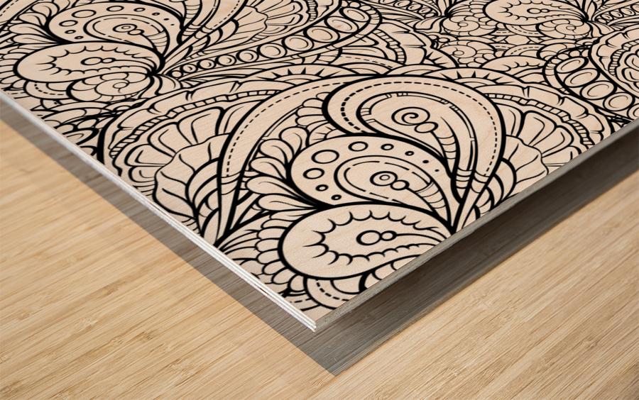Fluidity 3 Wood print