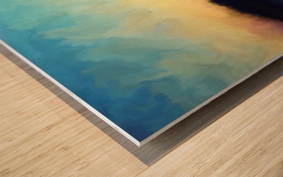 Oniric River Wood print