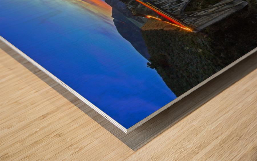 Bixby Blues Wood print