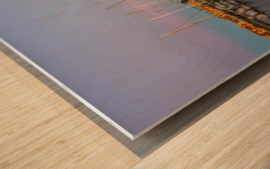 Full House Wood print