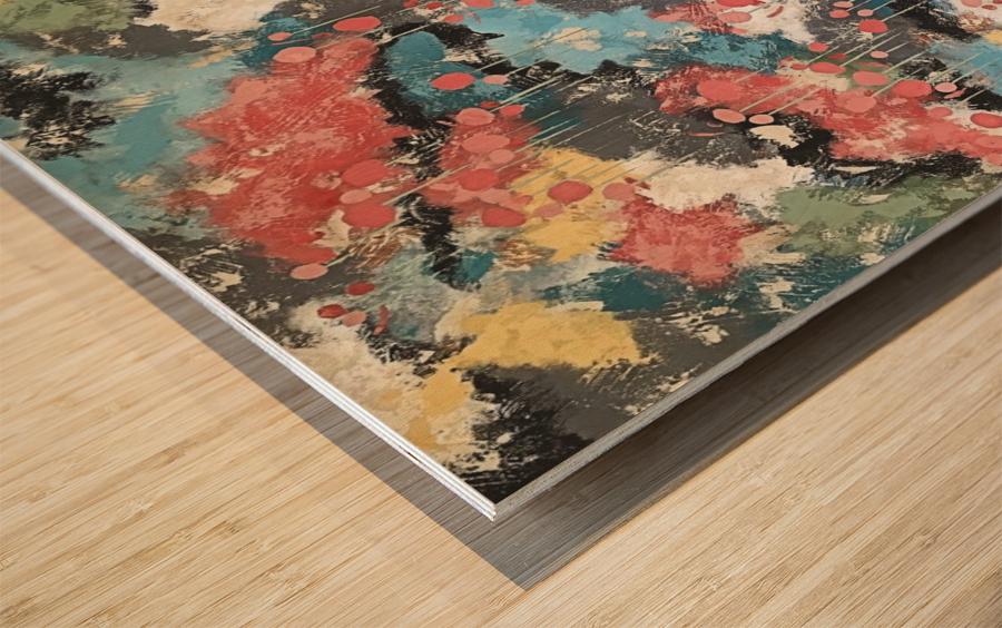 Meandering Home Wood print
