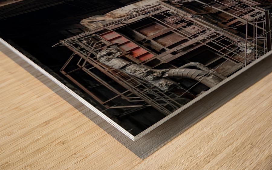 Abandoned Blade Runner Factory Wood print