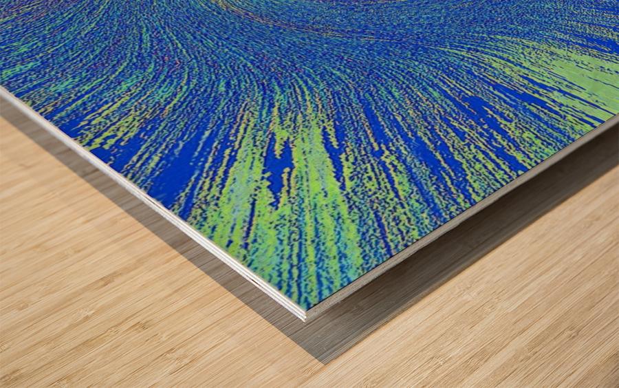 Blue Storm 1  Wood print