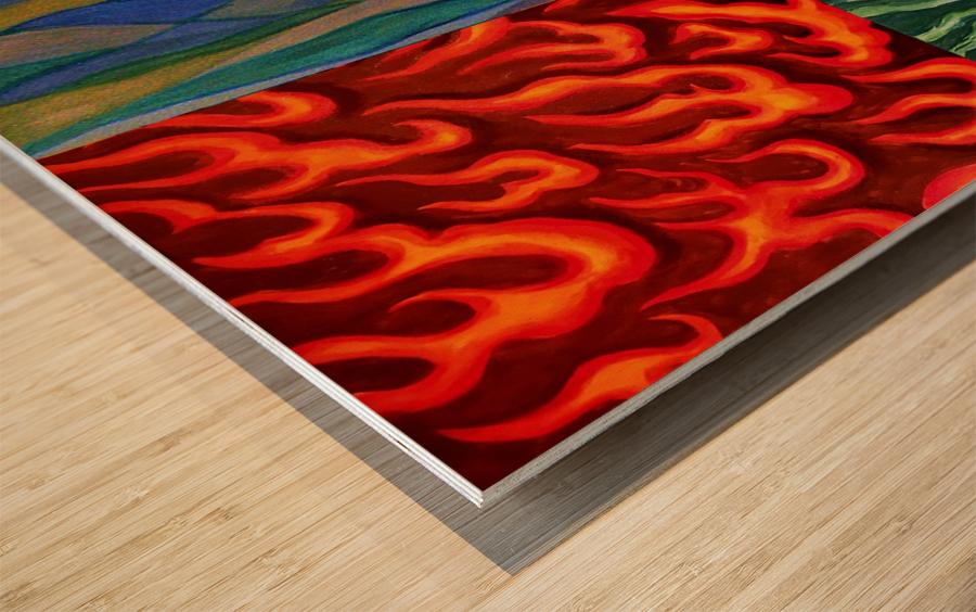 4 elements A Wood print