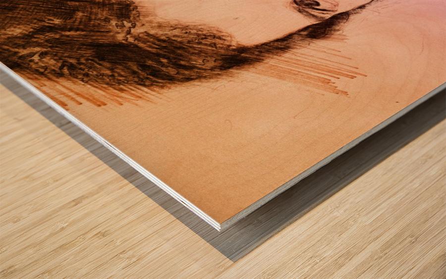 Fredie Mercury Wood print