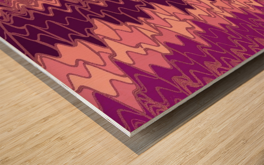 Zig Zag 14 Wood print