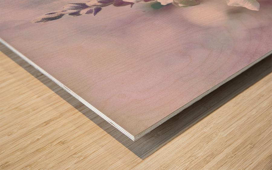 Soft Vintage Lupine Wood print