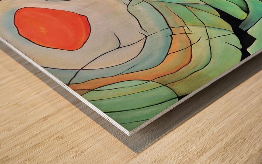 Sun Rings Wood print