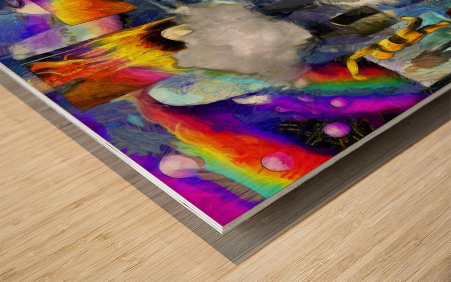 Elements of Human Consciousness Wood print