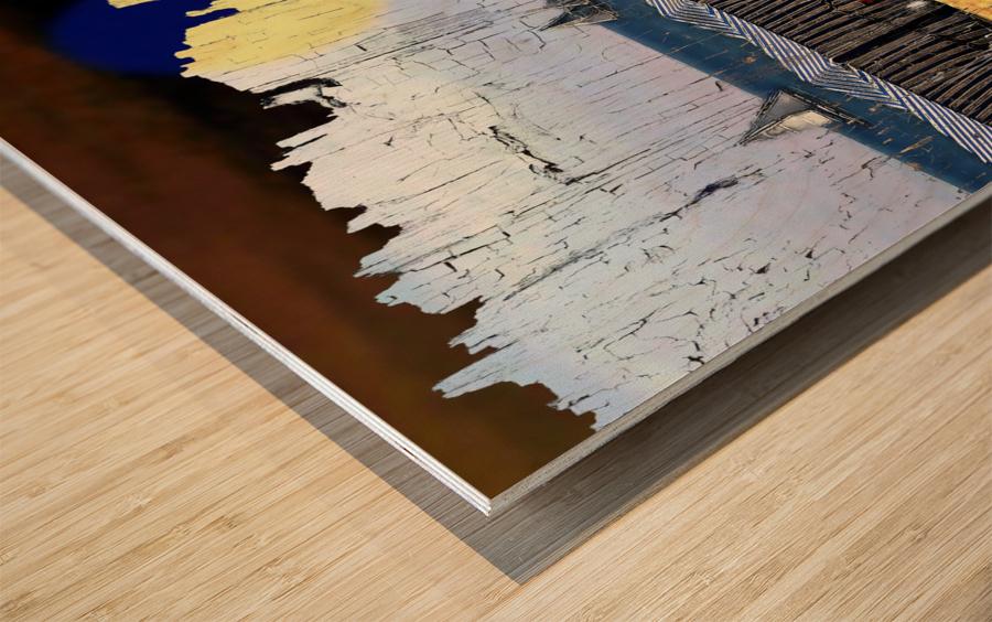 Les voiliers de Porto Wood print