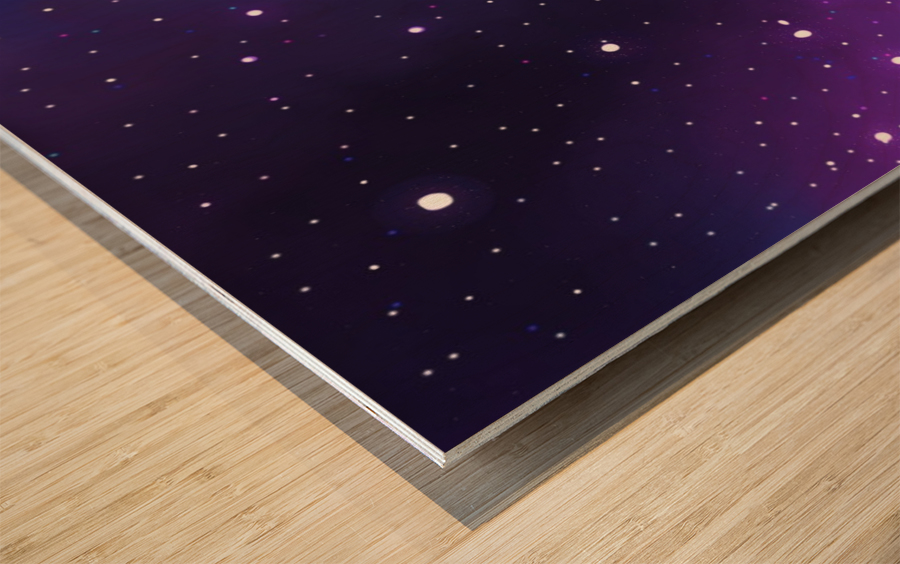 galaxy series - 2 Wood print