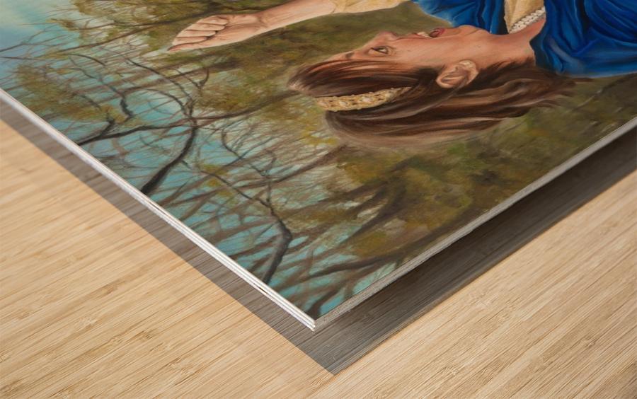 The Game Wood print