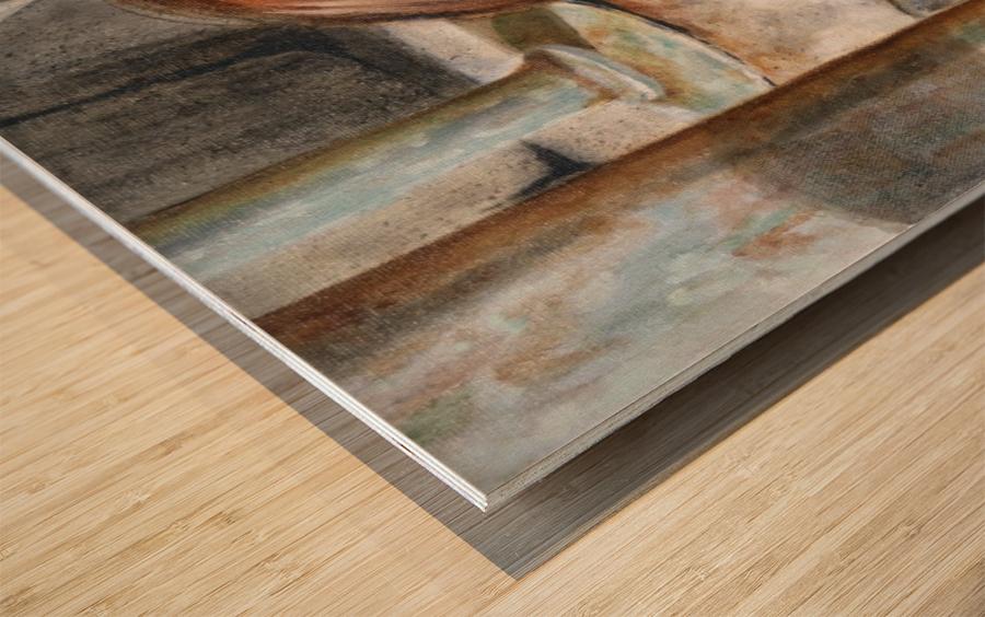 AAAAHHHH -  Panel 1 of 3 Wood print
