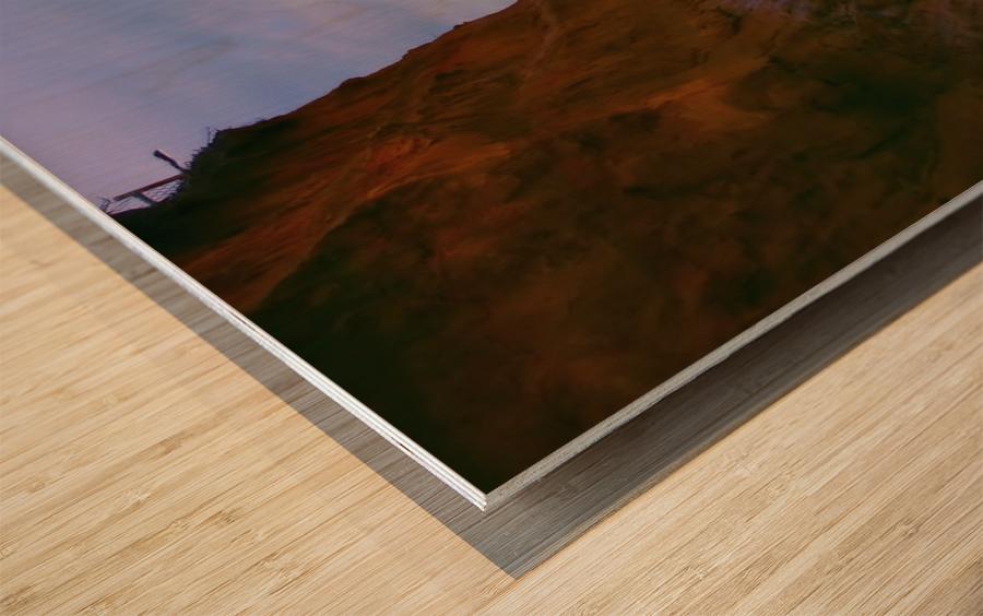 At the Coast Wood print