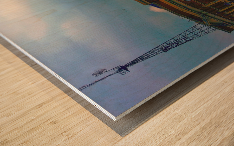 Port of Baltimore MD Wood print