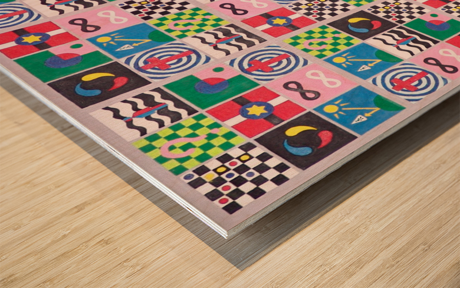 sudokolor Wood print