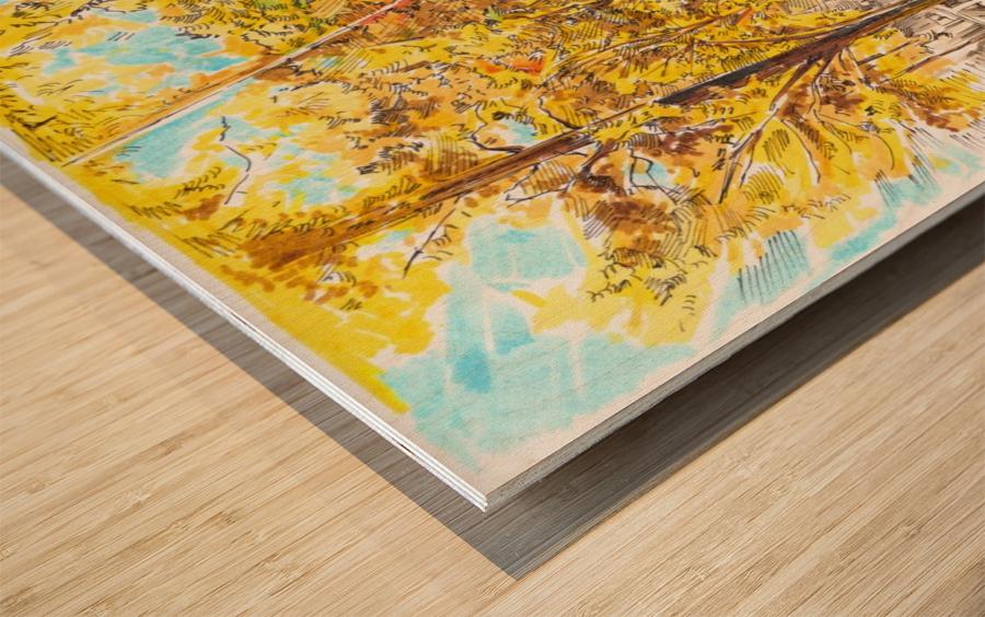 Autumn_Blues Wood print