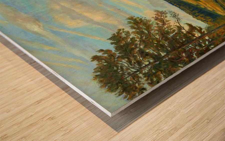 Okah_River_In_August Wood print