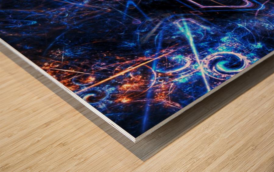 Time traveller Wood print