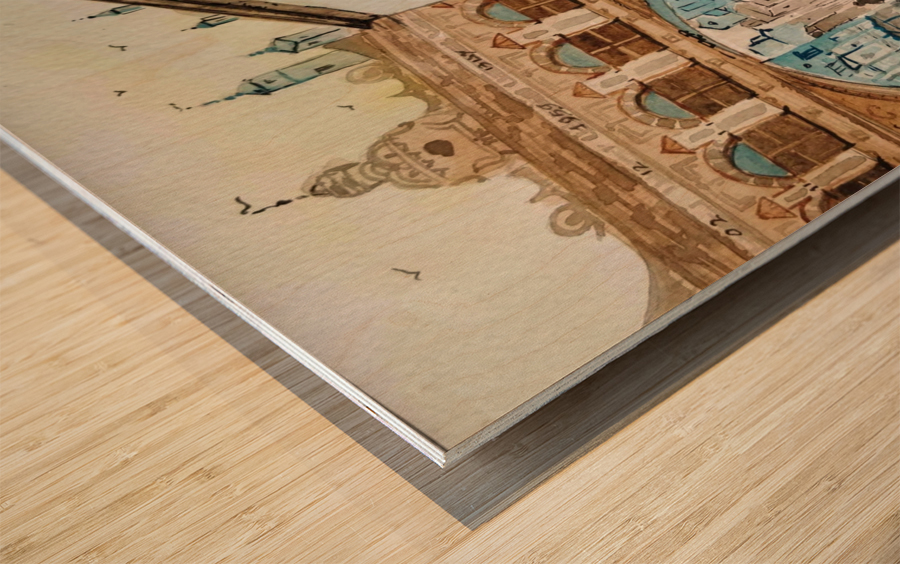 Cofee Lane_DKS Impression sur bois