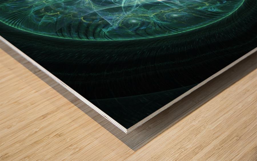 All seeing Eye Wood print