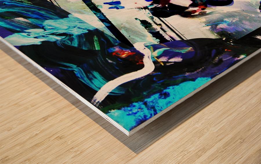 Strumming Patterns Wood print