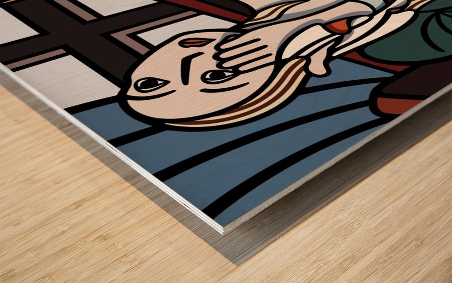 Crying Girl Wood print