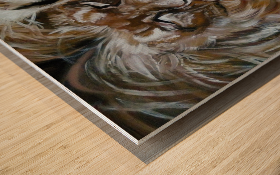 Leos.Devotion. Wood print