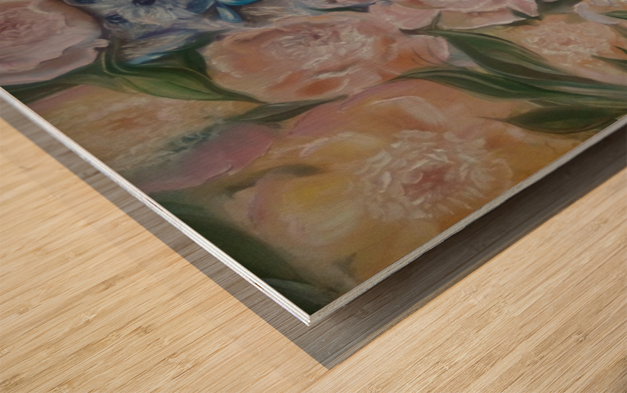 Flowers. Miracle. Wood print