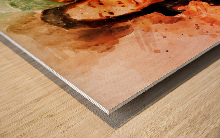 kobe and gianna bryant Wood print