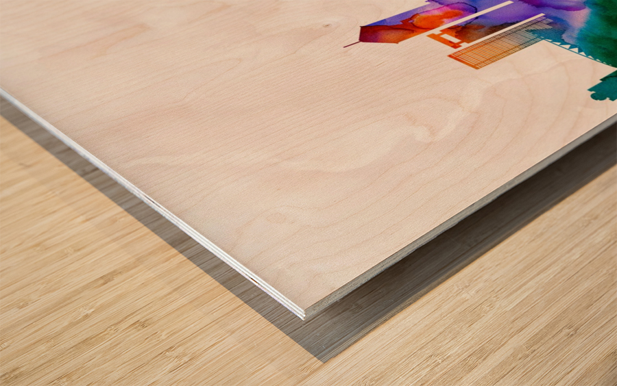 Foshan Skyline Wood print