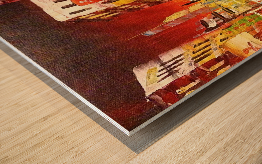 Wanchai Night Wood print