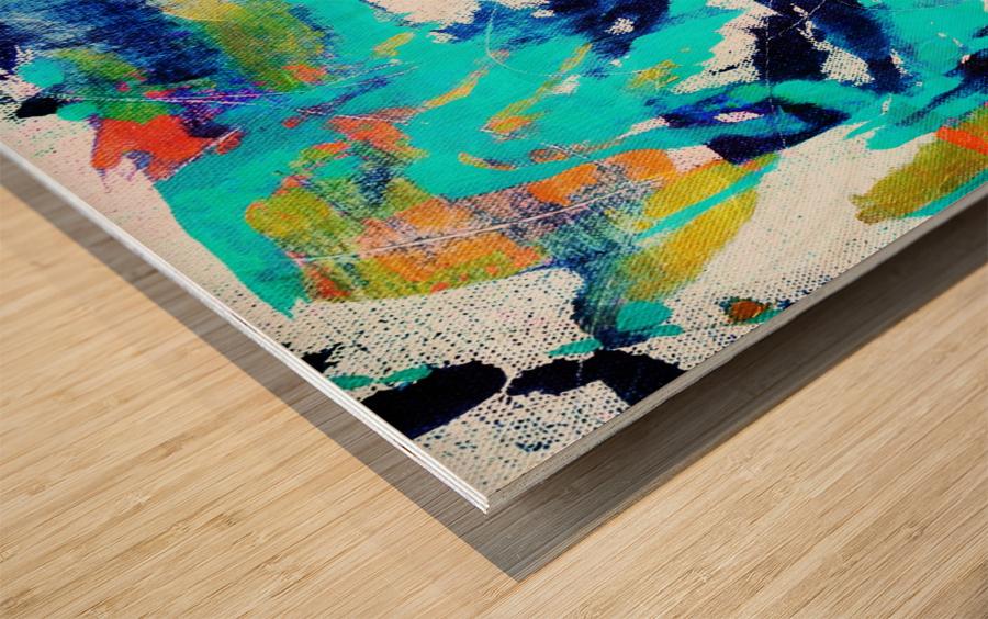 Abstract Ikat Impression sur bois
