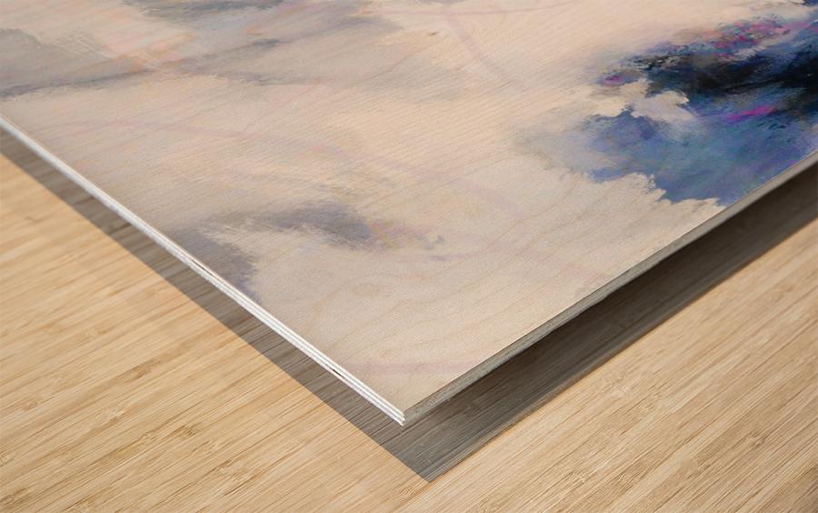 Lavender Cloud Impression sur bois