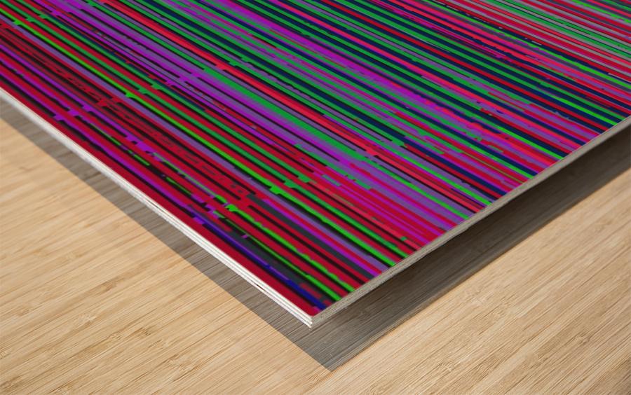 louvers Wood print