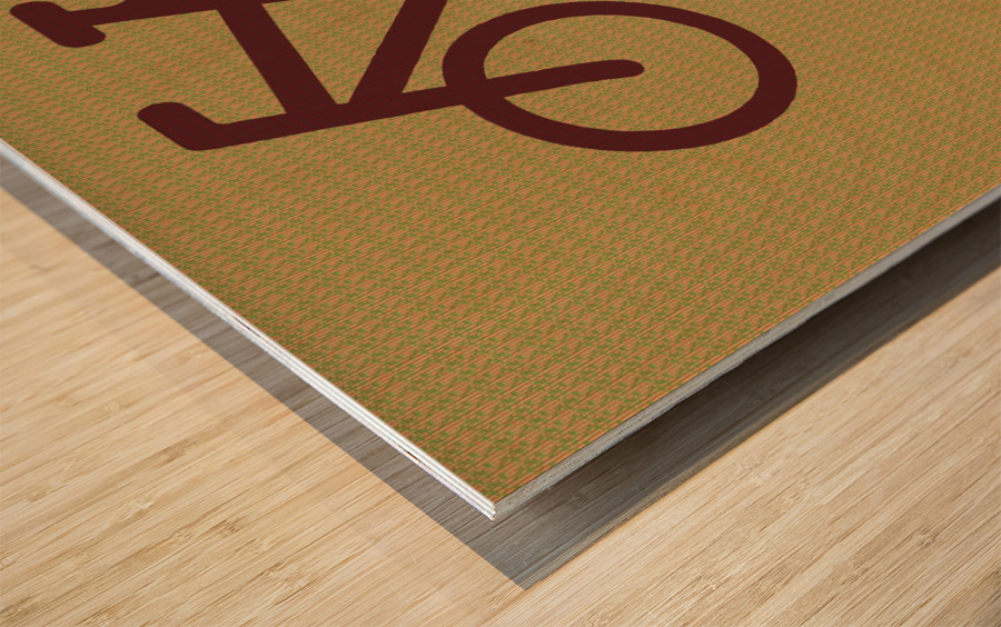 Bike Route number 13 Wood print