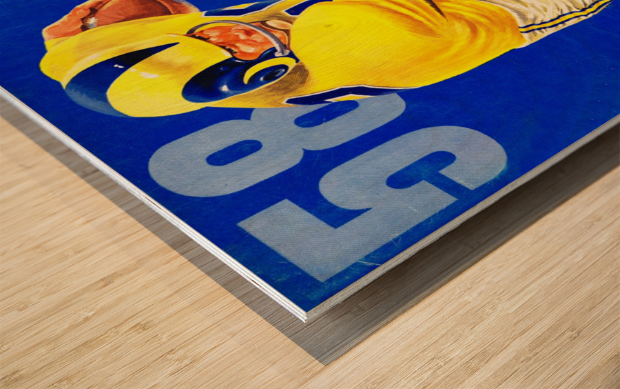 1958_National Football League_Los Angeles Rams_Yearbook_Row One Wood print