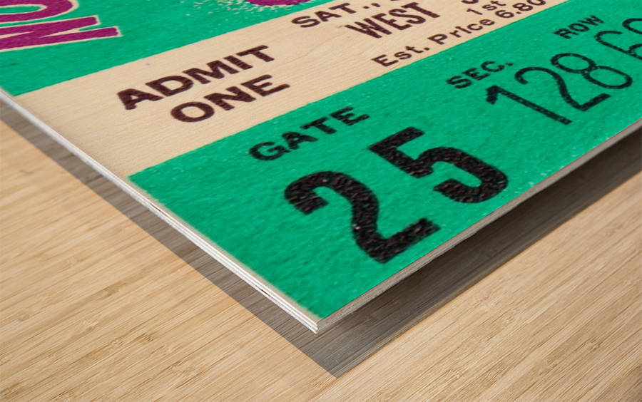 1970_College_Football_Notre Dame vs. Northwestern_Dyche Stadium_Evanston_Row One Brand Wood print