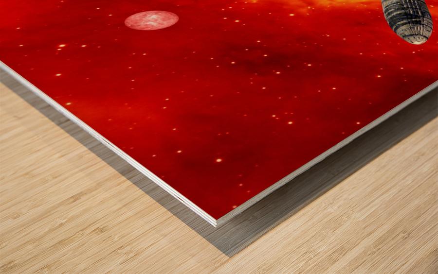 Journey to explore Mars Wood print