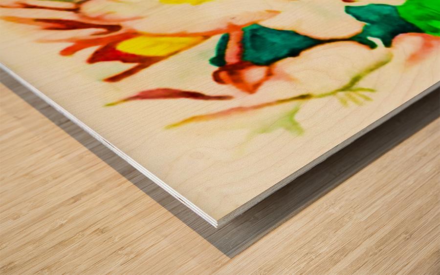 Radiant Flowers  Wood print