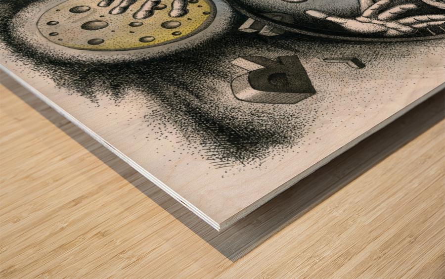 Run Wood print