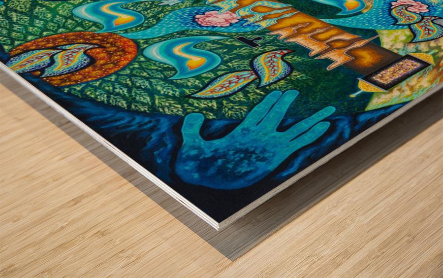 BNC1997-023 Impression sur bois