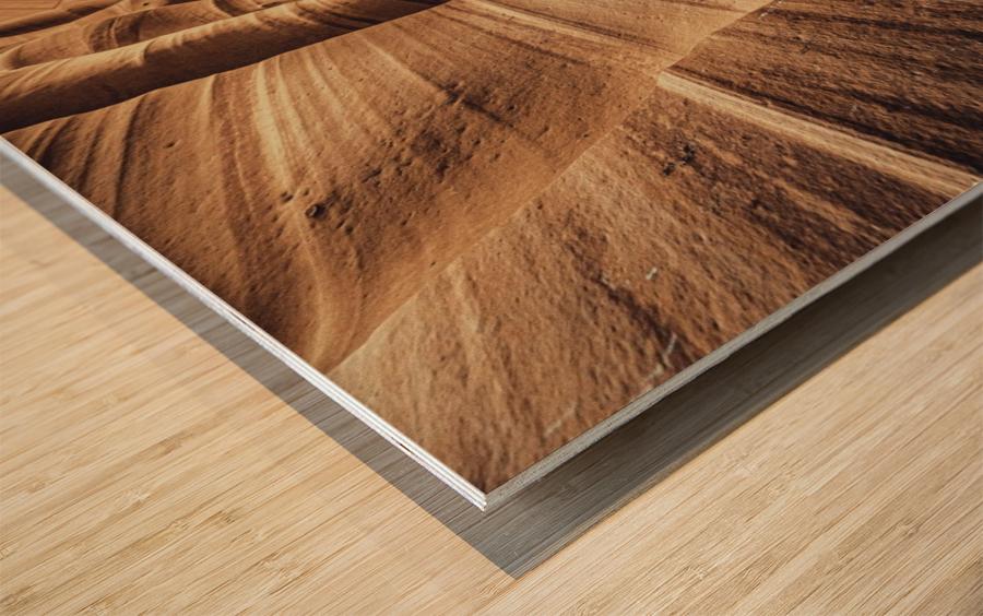 Zebra Slot Canyon II Wood print