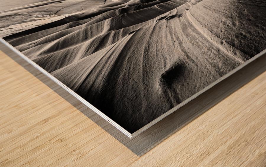 B&W Zebra Slot Canyon I Wood print