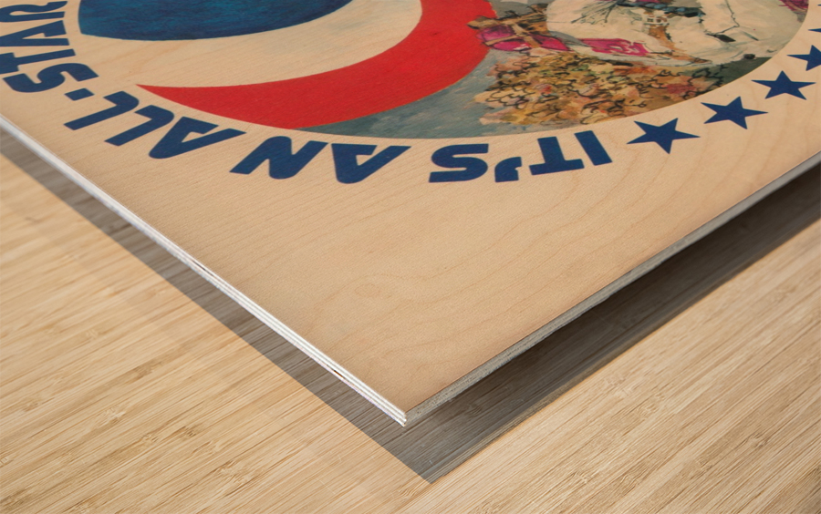 its an all star year atlanta 1972 baseball art Wood print